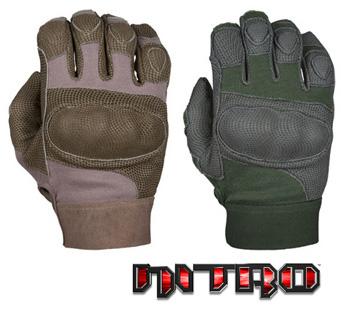 NITRO™ - Kevlar®, Digital leather & Carbon-Tek™ fiber knuckles DMZ33 (Special Order)
