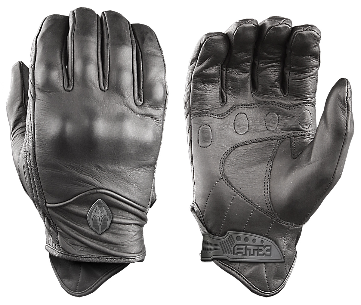 All-Leather Gloves with Knuckle Armor ATX95