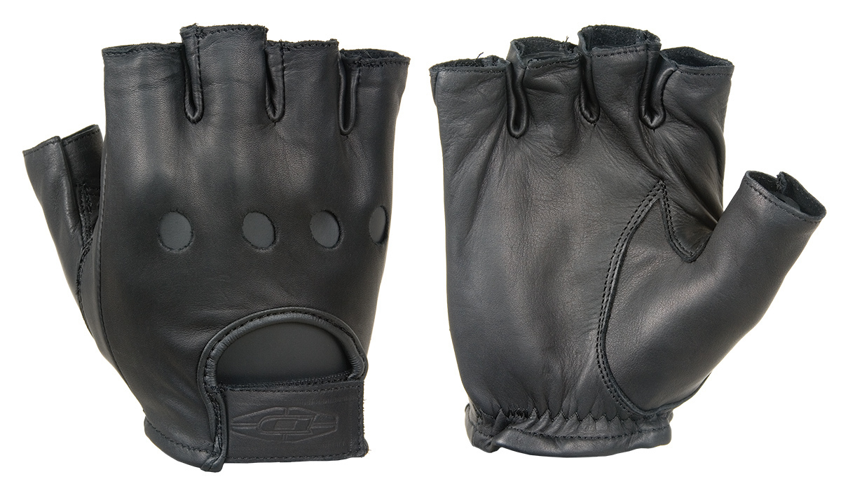 Premium leather driving gloves (½ Finger) D22S