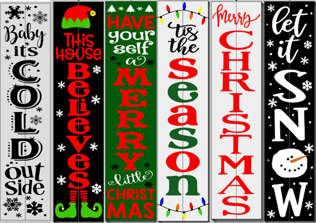 Christmas Winter Porch Signs