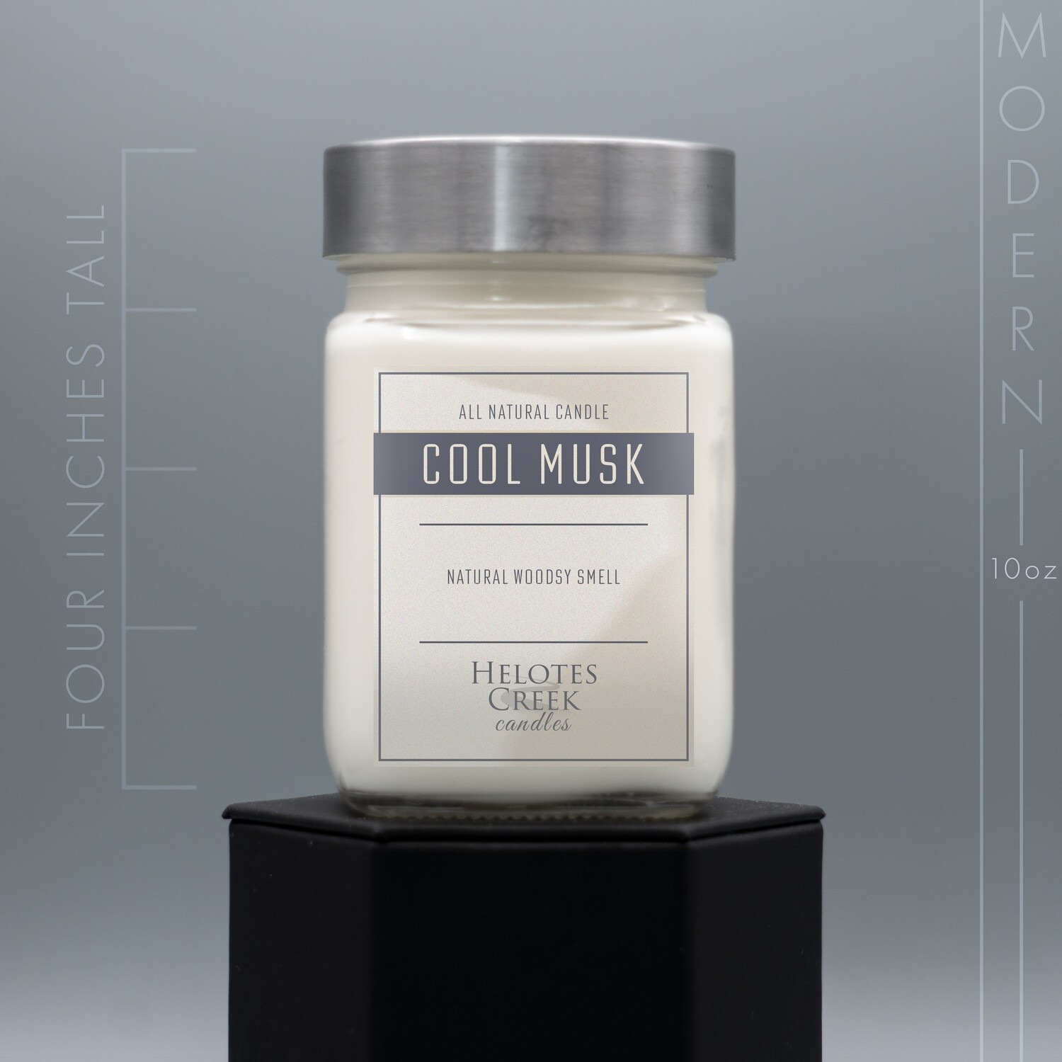 10 oz Cool Musk Modern Candle in Glass Jar