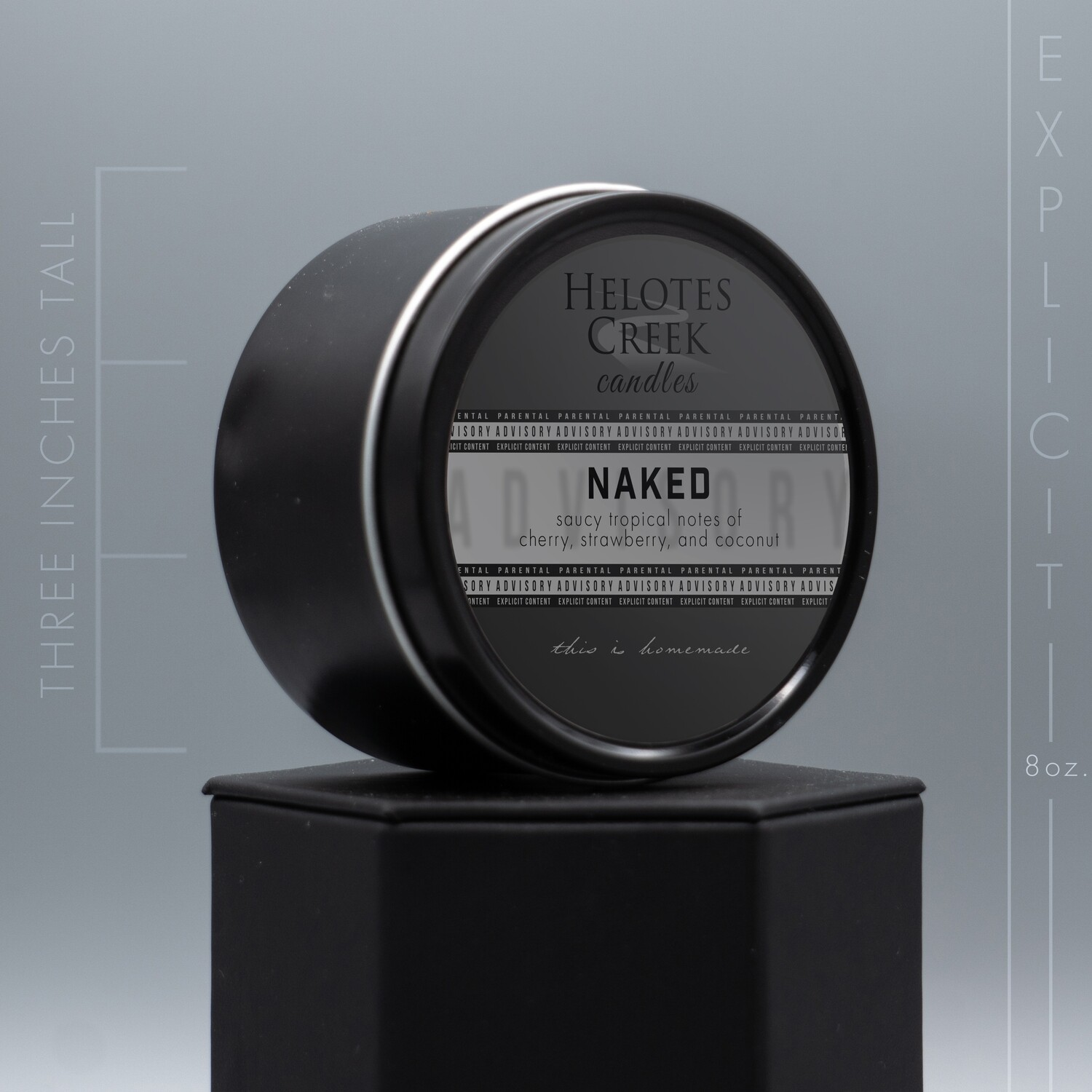 8 oz Naked Explicit Candle in Tin