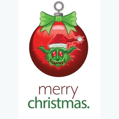 Grinch Ornament Christmas Card