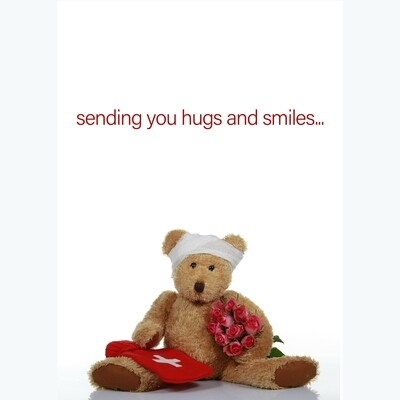 Hugs and Smiles Get Well Card