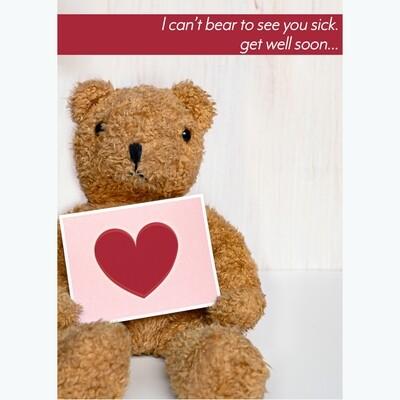 Bear to Sick Get Well Card