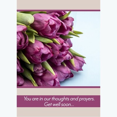 Thoughts and Prayers Get Well Card