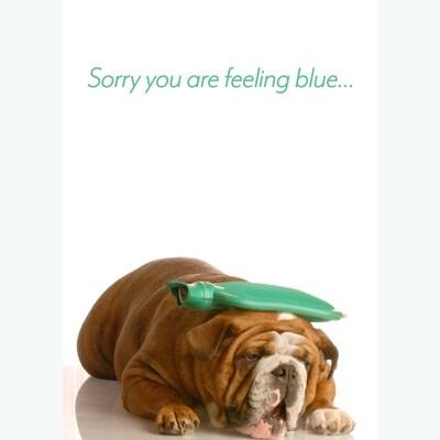 Feeling Blue Get Well Card