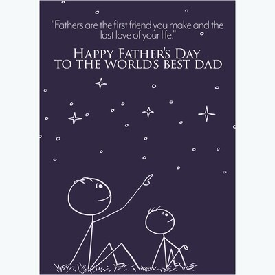Stars Father's Day Card