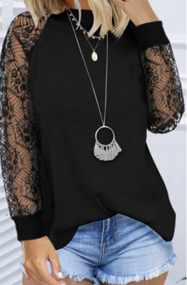 Black Lace, Long Sleeve Top