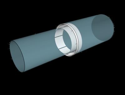 1012,5РП, Соединитель центральный пластик D100/125