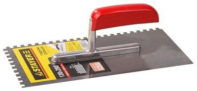 STAYER 130х280 мм, 6х6 мм, гладилка штукатурная зубчатая стальная с деревянной ручкой