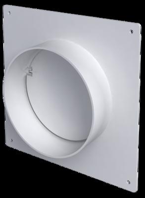 12,5SKNPO, Соединитель круглых каналов с накладной пластиной и обратным клапаном, D125