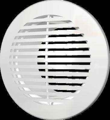 12РКФ, Решетка вентиляционная круглая D165 вытяжная АБС с фланцем D120