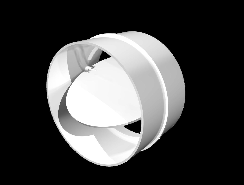 12,5СКПО, Соединитель с обратным клапаном пластик, D125