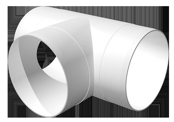 10ТП, Тройник Т-образный пластик D100