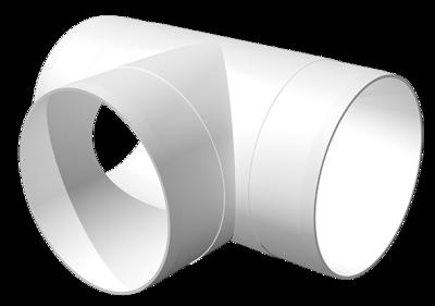 12,5ТП, Тройник Т-образный пластик D125