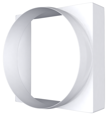 10КВ, Соединитель квадрата 100х100 с круглым воздуховодом пластик D100