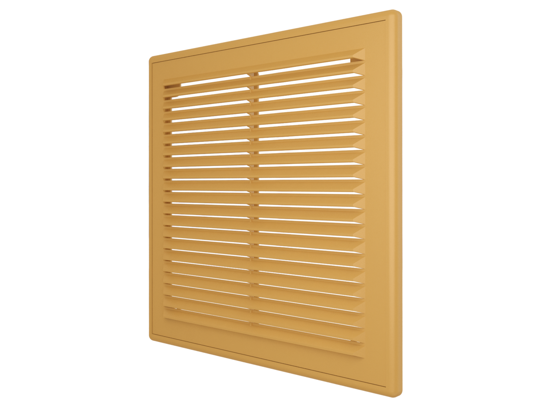 1515Р беж, Решетка вентиляционная вытяжная АБС 150х150, беж.