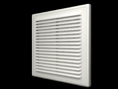 1515Р, Решетка вентиляционная вытяжная АБС 150х150, бел.