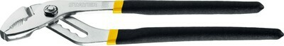 Клещи переставные, хромированные, закаленная сталь С55, двойная обливка ручек, 250мм, STAYER Master