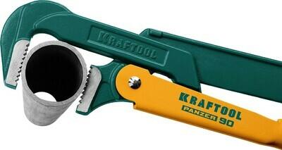 KRAFTOOL PANZER-90, №0, ключ трубный, прямые губки