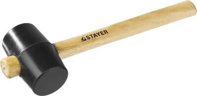 STAYER  225г Чёрная резиновая киянка с деревянной рукояткой