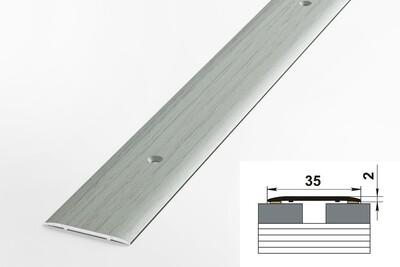 Порог алюминиевый стыкоперекрывающий ЛС 35.900.R102 Ольха серая