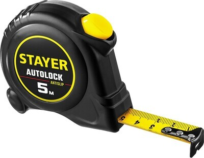 STAYER АutoLock 5м / 19мм рулетка с автостопом