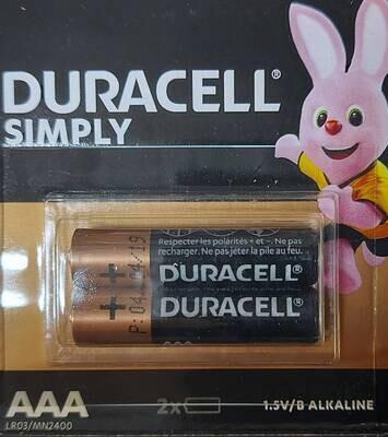 Батарейка DURACELL ААА мизинчиковый