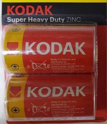 Батарейка цинк  Kodak R20-2BL