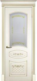 Дверь Смальта 05, Слоновая кость ral 1013 , Эмаль, со стеклом Сатинат, шелкотрафаретная печать
