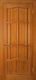 Дверь Ампир ДГ, Тонированная сосна, Массив, глухое
