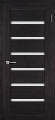 Дверь ST-607, Венге, 3D покрытие, со стеклом белый сатинат
