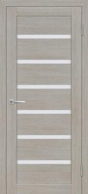 Дверь ST-607, Светло серый, 3D покрытие, со стеклом белый сатинат
