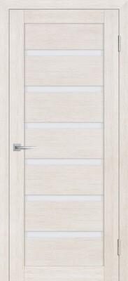 Дверь ST-607, ЭшВайт, 3D покрытие, со стеклом белый сатинат