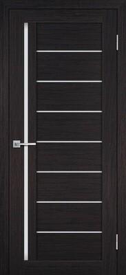 Дверь ST-641, Венге, 3D покрытие, со стеклом белый сатинат