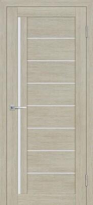 Дверь ST-641, Капучино, 3D покрытие, со стеклом белый сатинат