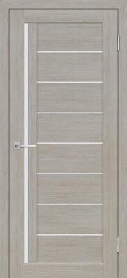 Дверь ST-641, Светло серый, 3D покрытие, со стеклом белый сатинат
