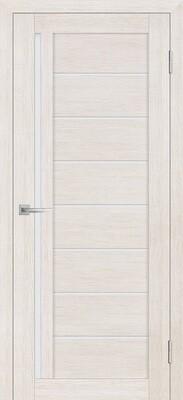 Дверь ST-641, ЭшВайт, 3D покрытие, со стеклом белый сатинат