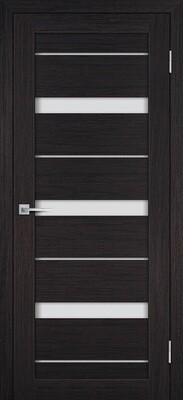 Дверь ST-642, Венге, 3D покрытие, со стеклом белый сатинат