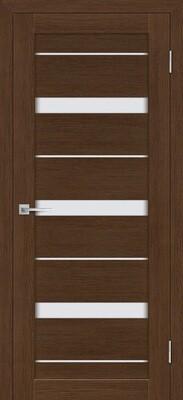 Дверь ST-642, Орех Ночавелла, 3D покрытие, со стеклом белый сатинат