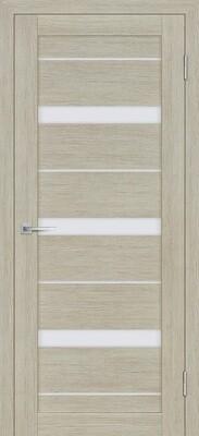 Дверь ST-642, Капучино, 3D покрытие, со стеклом белый сатинат