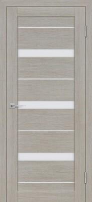 Дверь ST-642, Светло серый, 3D покрытие, со стеклом белый сатинат