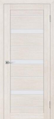Дверь ST-642, ЭшВайт, 3D покрытие, со стеклом белый сатинат