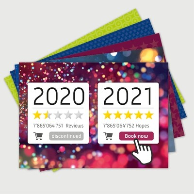 New Year 2021 (set of 5 cards)