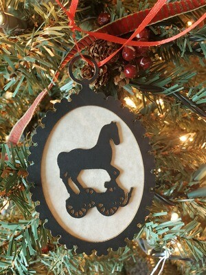 Toy Pull Horse Silhouette Ornament
