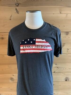 Fort Meigs Map T-Shirt