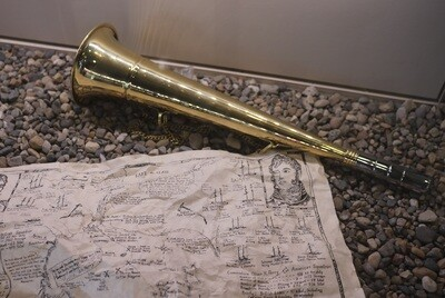 Brass Fog Horn with Reed Attachment