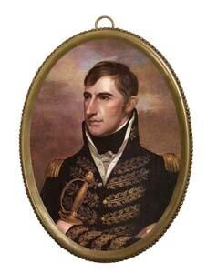 William Henry Harrison Framed Oval Portrait