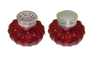 Red Inkwell and Sander Set